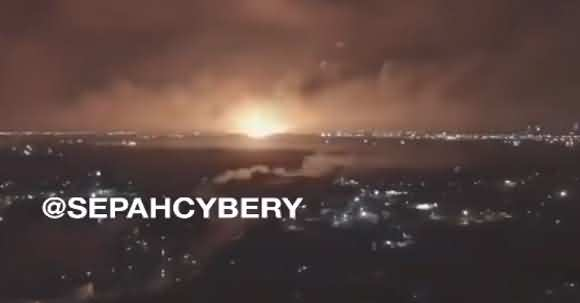 Videos On Social Media Allegedly Showing A Huge Explosion In Iran Near Military Complex