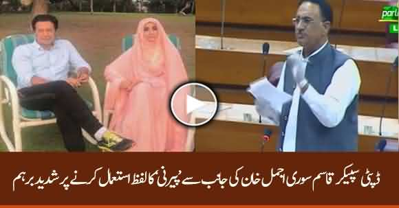 Deputy Speaker NA Qasim Suri Got Angry On Ajmal Khan After Using Word 'Peerni'